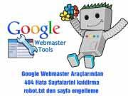 Google Web Master Araçlarından Hatalı Sayfa Kaldırma