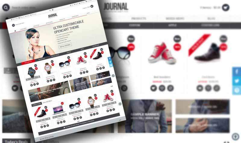 journal opencart theme free - Opencart Free Theme Journal V3.0.31 - Advanced