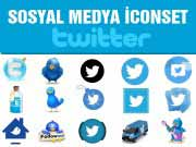 Twitter Sosyal medya İcon Set