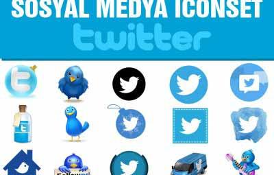 twitter sosyal icon set 400x255 - Twitter Sosyal medya İcon Set