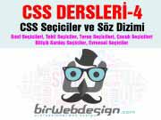 CSS Dersleri 4 – Seçiciler ve söz dizimi