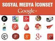 Sosyal Medya icon Set Google Plus