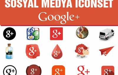 google plus icon set 400x255 - Sosyal Medya icon Set Google Plus