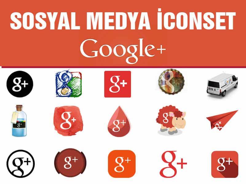 google plus icon set - Sosyal Medya icon Set Google Plus