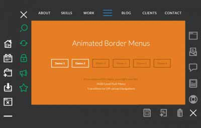 css3 animated border menus 400x255 - CSS3 Animated Border Menu demo & download