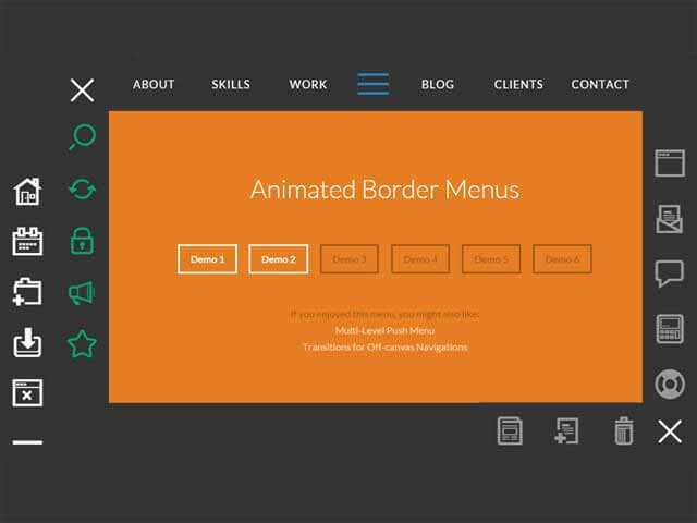 css3 animated border menus - CSS3 Animated Border Menu demo & download