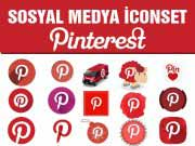 Sosyal Medya icon Set Pinterest