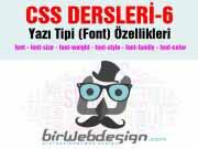 CSS Dersleri-5 Yazı Tipi (Font) Özellikleri