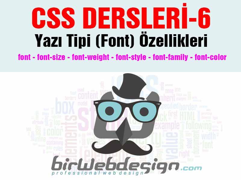 css dersleri font yazi tipii ozellikleri 6 - CSS Dersleri-5 Yazı Tipi (Font) Özellikleri