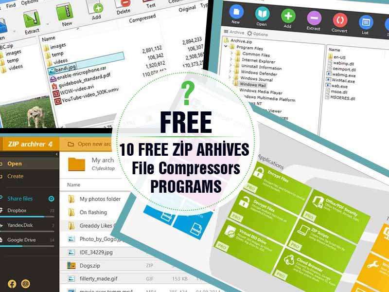 10 Ücretsiz Zip – Dosya Sıkıştırma Programı