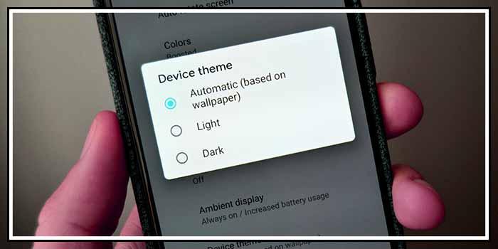 android dark theme karanlık tema detayları kullanımı