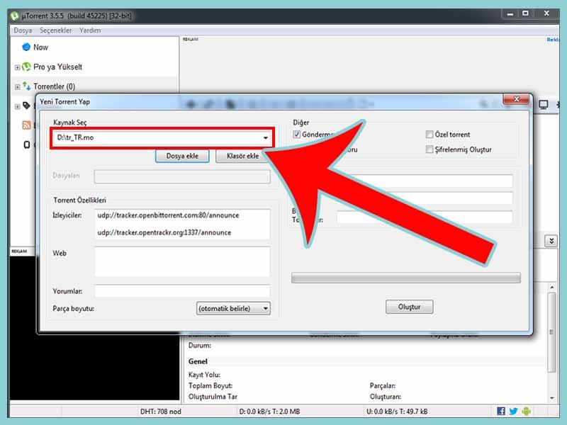 dosya ekleme - Torrent Kullanımı Detaylı Anlatım? Oyun film Müzik İndirin!