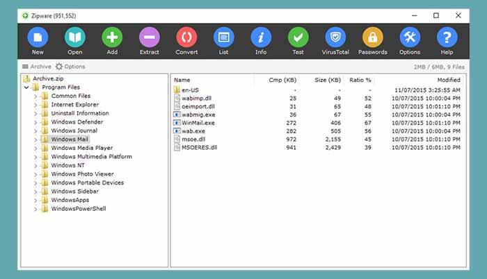 Dosya Sıkıştırma Programı zipware Download