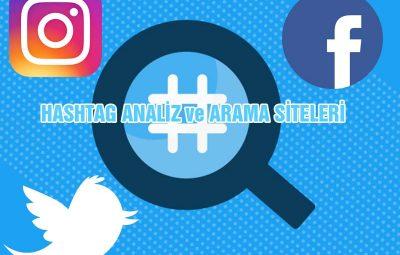 Instagram Facebook Twitter Hashtag Analiz Arama Siteleri