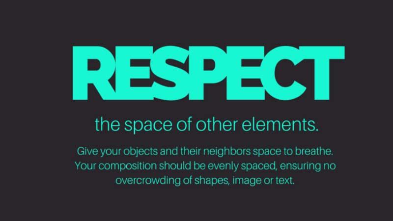 Grafik tasarım ipuçları - Diğer Öğelerin Alanına Saygı Duymak
