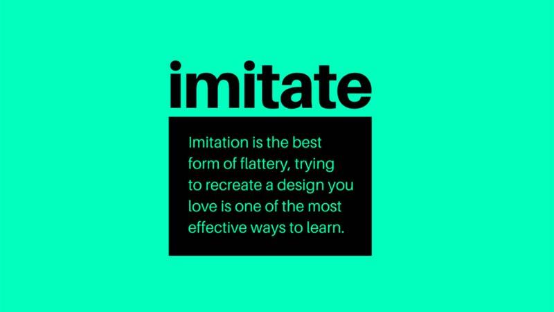 Grafik tasarım ipuçları - Taklit edin ve yaratın