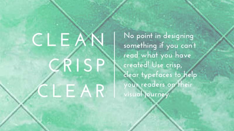 Grafik tasarım ipuçları - Temiz, berrak