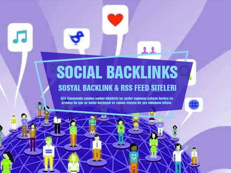 Backlink İçin Siteler ve Sosyal Medya RSS Ekleme Siteleri - Social Media RSS Feed Sites