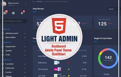 Light admin panel template theme tema download ucretsiz indir