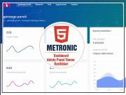 Metronic Admin Panel Theme HTML Dashboard Template