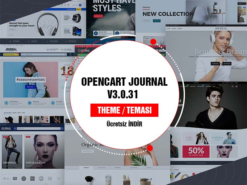 Journal oopencart theme teması V3 indir free download