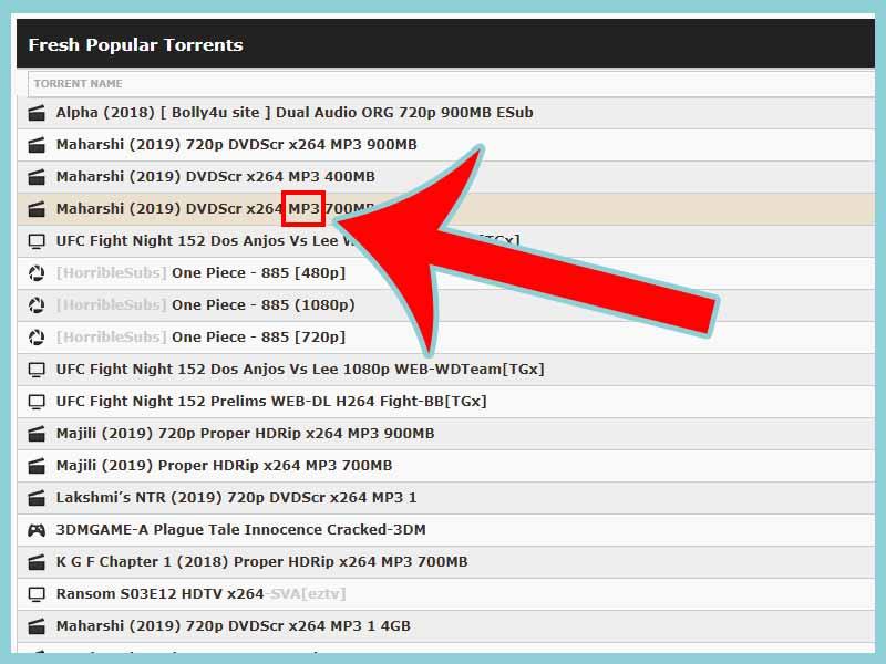 torrent dosya türü belirleme