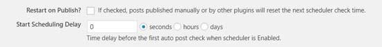 wordpress yazı zamanlama auto post scheduler zamanlamayı geciktirme