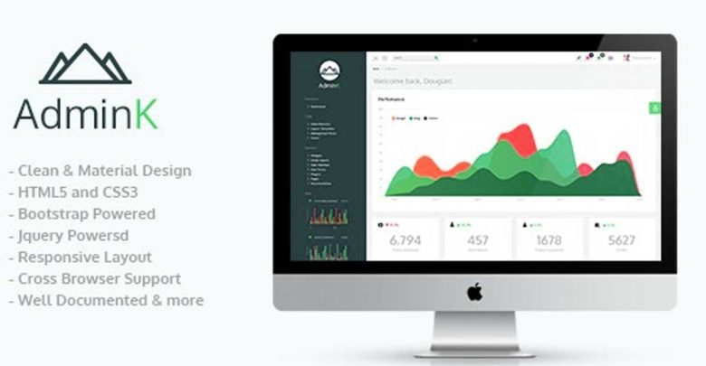 Admink Bootstrap Admin Template Teması Ücretsiz Download indir