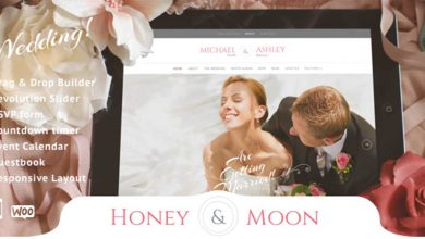 Honeymoon Wedding Theme Wordpress Düğün Template Teması