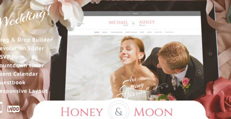 Honeymoon Wedding Theme Wordpress Düğün Template Teması