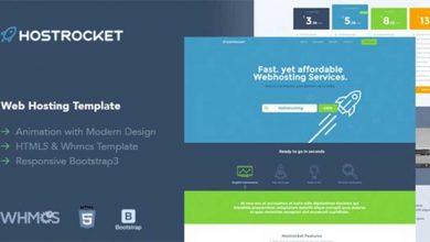 Hostrocket WHMCS & HTML Template Theme Teması Ücretsiz İndir