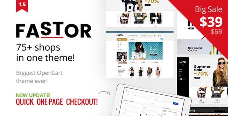 fastor theme temasi indir download - Opencart Fastor Theme V2.3 Responsive Teması Ücretsiz İndir