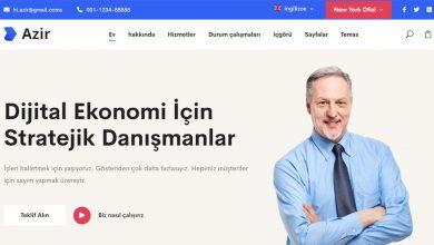 Azir Consulting Finance HTML5 Tema Şirket Teması Ücretsiz indir