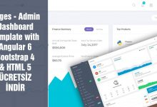 Pages Dashboard Theme Admin Panel Template Ücretsiz İndir Download