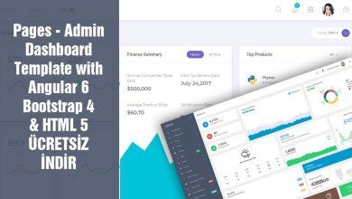 Pages Dashboard Theme Admin Panel Template Ücretsiz İndir Download