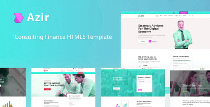 Azir Consulting Finance HTML5 Tema Şirket teması