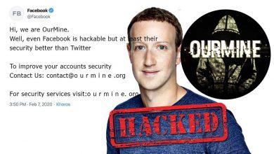 Hacker grubu OurMine tarafından Facebook'un Twitter hesabı Hacklendi