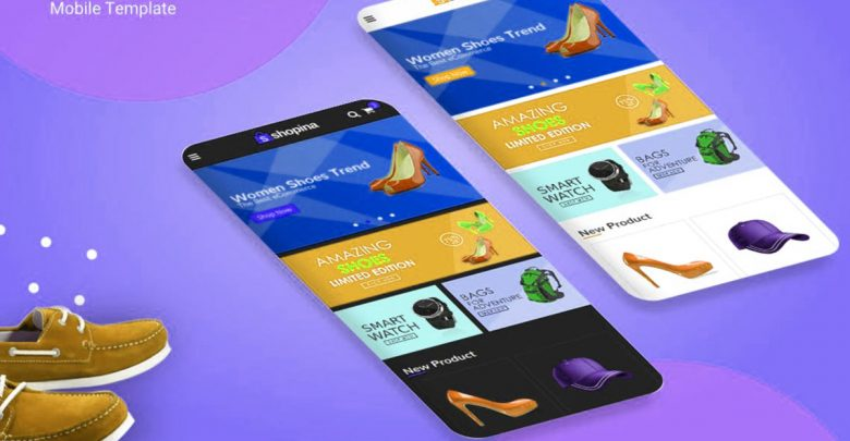 Shopina HTML5 Theme Web Teması e-Ticaret Site Şablonu Mobil CSS3
